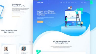 Photo of SEO Website Landing Page Free PSD Templates
