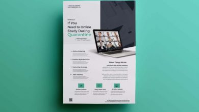 Photo of Online Learning Flyer Free PSD Template
