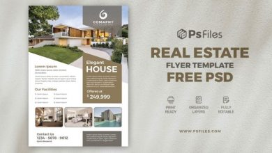 Photo of Properties for Sale Real Estate Free PSD Flyer