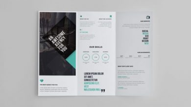 Photo of Free Creative Design Studio Tri-Fold Brochure PSD Template