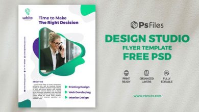 Photo of Creative Design Studio Flyer Template Free PSD