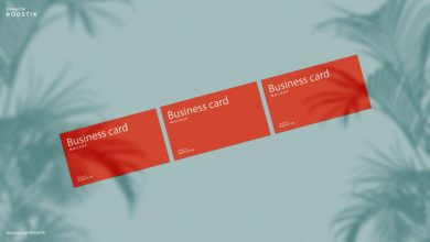 Photo of Free A4, Business Card & Sticker Mockups