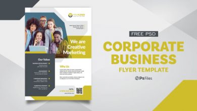 Photo of Corporate Business Marketing Free PSD Flyer Design Template
