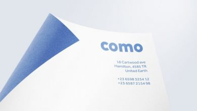 Photo of Curled Sheet of Paper for Logo Mockup