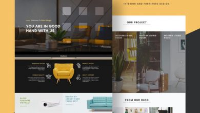 Photo of Interior and Furniture Design Ecommerce Free PSD Website Template