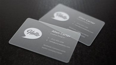 Photo of Translucent Business Cards Mock-Up