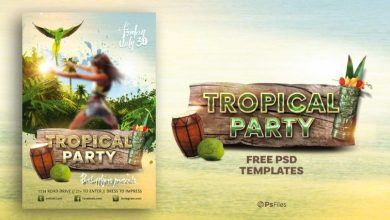 Photo of Tropical Party Theme Free Flyer Template PSD