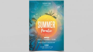 Photo of Summer Paradise Flyer PSD Template