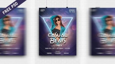 Photo of Casual Beats Poster PSD Template