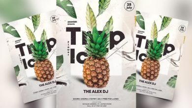 Photo of Tropical Flower Party Free PSD Flyer Template