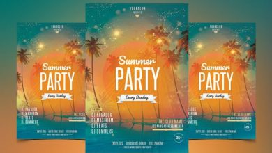 Photo of Beach Party PSD Flyer Template