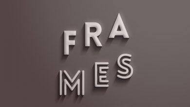 Photo of Frames Text Effect PSD