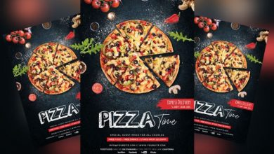 Photo of Pizza Restaurant Free PSD Flyer Template