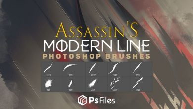 Photo of Grunge Abstract Brush – Assassin Modern Line