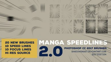 Photo of Manga Speedlines Brushes