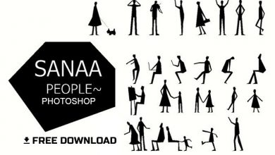 Photo of SANAA Style Human Figures Brush for Architects in Photoshop