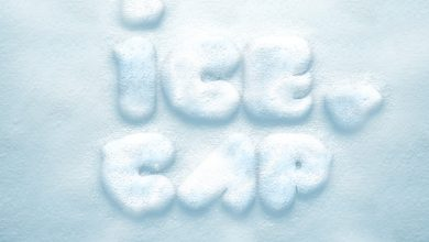 Photo of Ice Snow Cap Text Effect PSD