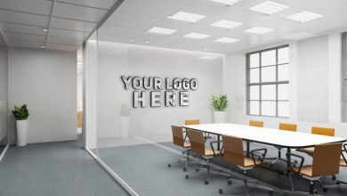 Photo of Office Indoor LOGO Mockup PSD