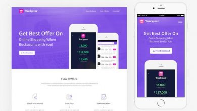 Photo of Price Tracking Mobile Application Website PSD Template