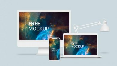 Photo of White Apple Devices Responsive Website Mockup