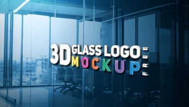 Photo of New 3D Glass LOGO Mockup PSD