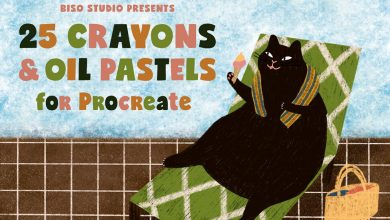 Free Crayons and Oil Pastels Brushes for Procreate