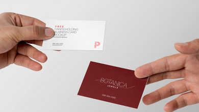 Two Hands sharing thier Business card