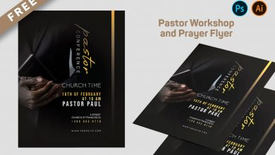 Minimal Church Pastor Workshop Flyer Free PSD