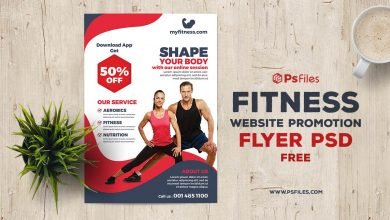 Shape Body Online Session Free Flyer PSD Template