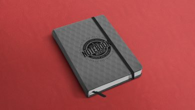 Notebook free mockup PSD to showcase your branding stationery design in a photorealistic style. Simple edit with smart layers. Free for personal and commercial use. Have fun!