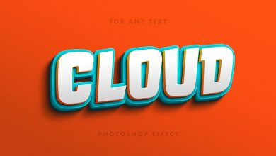 Free Playful 3D Letters Text Effect PSD