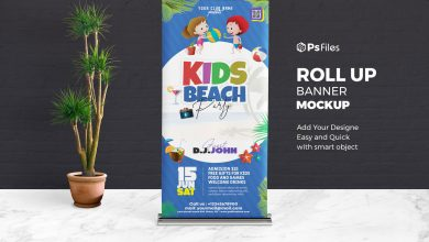 Best Roll-Up Banner Standee Mockup PSD for FREE