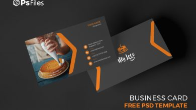 Free Homemade Cake Makers Business Card PSD Template