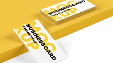 Two Free Business Card Mockups PSD set