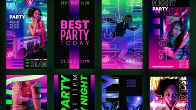 9 Free Party Instagram Stories PSD Template