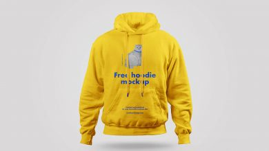 Front view Hoodie Mockup PSD for Free