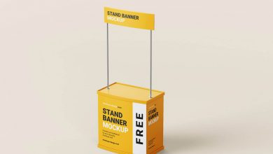 Free Trade Stand Mockup PSD Templates