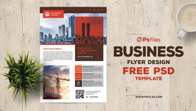 Clean and Standard Construction Business Flyer PSD for Free