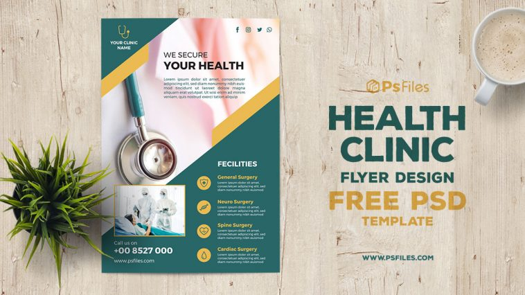 Health Clinic Free Flyer PSD Template 03